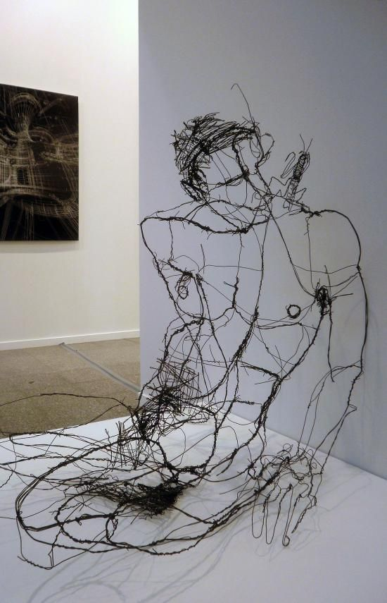 Escultura con alambre.Artists Anatomy, Inspiration, Fine Art, David Oliveira, Wire Art, Lisbon Artists, Wire Sculptures, Davidoliveira, Artists David
