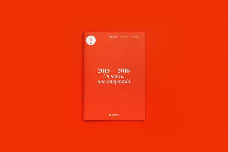 Visual identity, communication and Art direction for 2015/16's season of Teatre Nacional de Catalunya