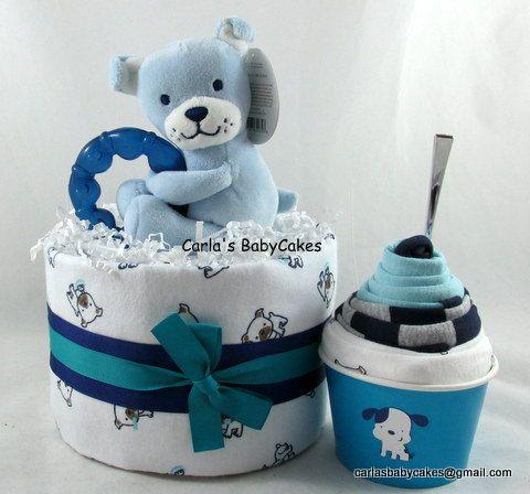 Boy diaper cake  Baby bodysuit cupcake  Ice by MsCarlasBabyCakes