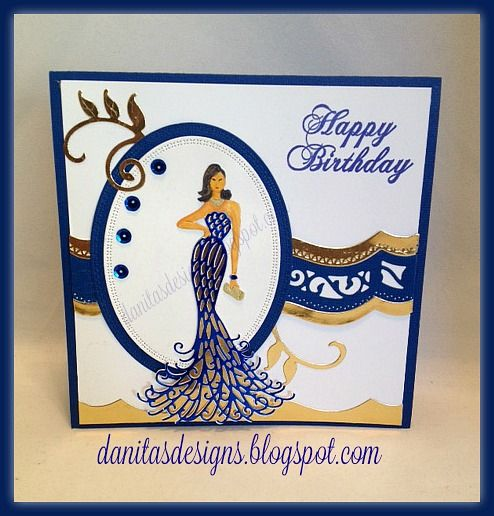 Danita's Designs!!! : Glamorous Birthday Card