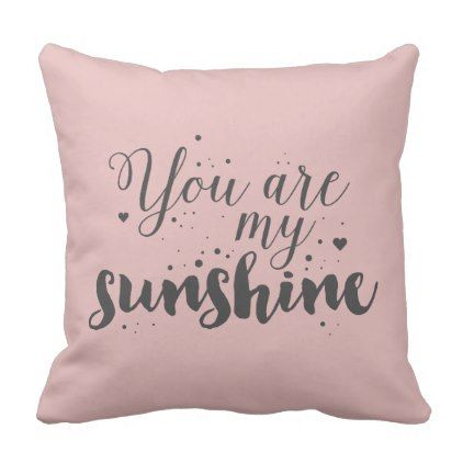 Cute Romantic Pink Quote  Pillow - quote pun meme quotes diy custom
