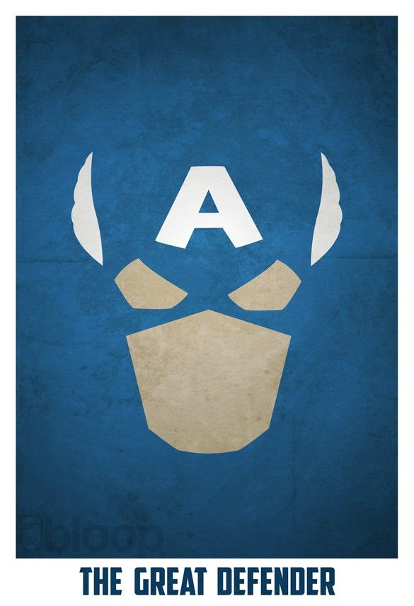 Minimalist Superhero Posters /// Captain America