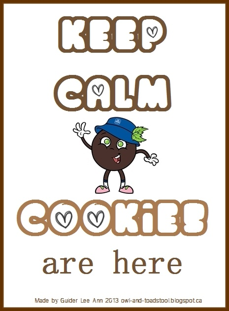 We adore Owl & Toadstool's Keep calm posters! Girl Guides Cookies are here every spring and autumn season.