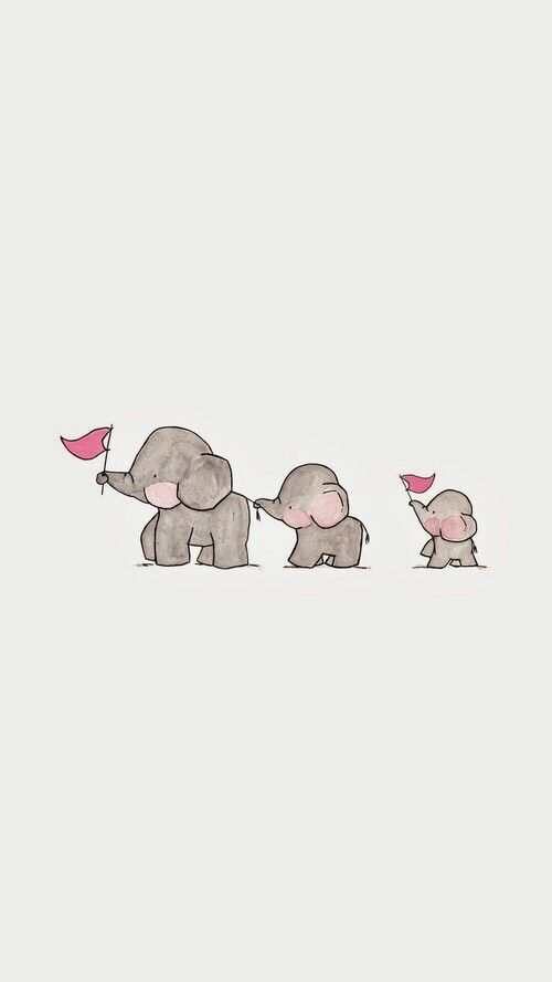 Wallpaper #elefante #heart #cute