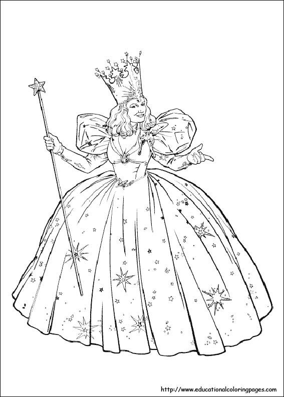 Glinda The Good Witch Coloring Pages Coloring The Wizard Of Oz Coloring Pages