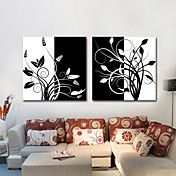 Stretched Canvas Art Black and White Floral B... – AUD $ 60.64
