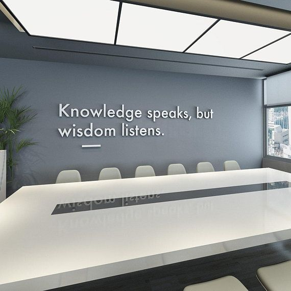 Wisdom Listens 3d Wall Art Office Decor Office Wall Art Etsy Office Wall Art Meeting Room Design Corporate Office Design
