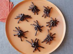 Spider Bites - All you need are three ingredients to make Sandra's easy spider bites. The chocolate-covered pretzels are just creepy enough for young kids to enjoy.