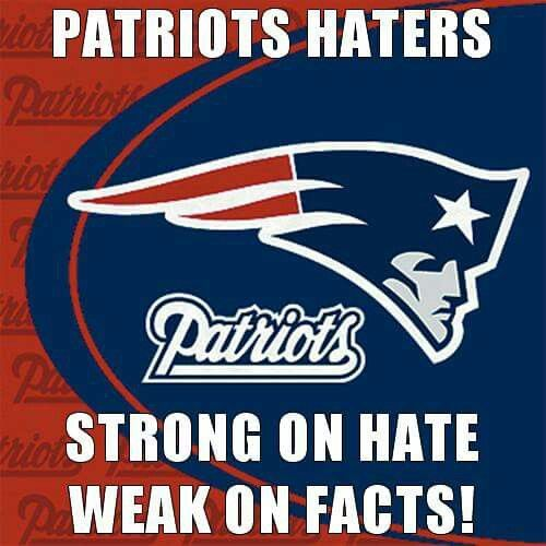 Haters gonna hate #GOPATRIOTS