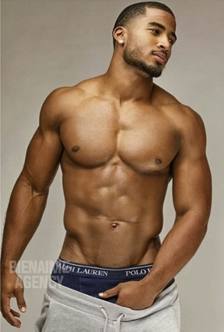 sexy black gay man