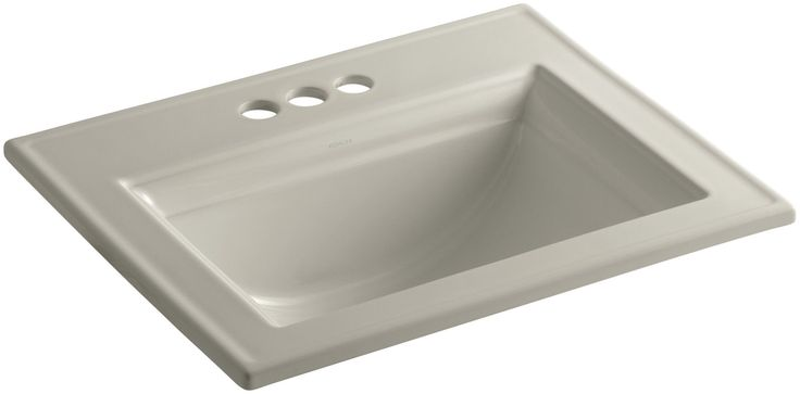 """Memoirs Stately Drop-In Bathroom Sink with 4"""" Centerset Faucet Holes"""