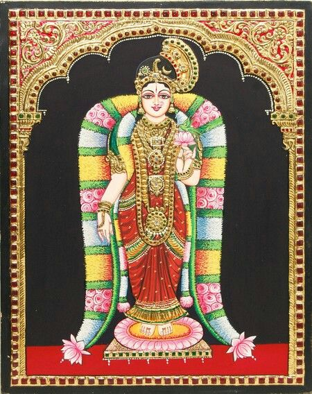 Goddess Tanjore painting......