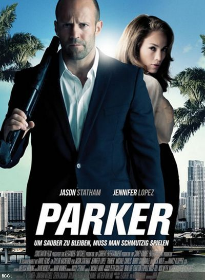 A poster from Jason Statham and Jennifer Lopez starrer Hollywood movie 'Parker'