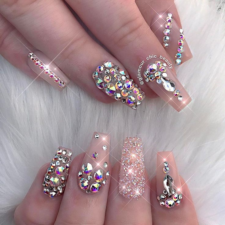 Stiletto Nail Art With Diamonds: Best 25+ Diamond Nails Ideas On Pinterest