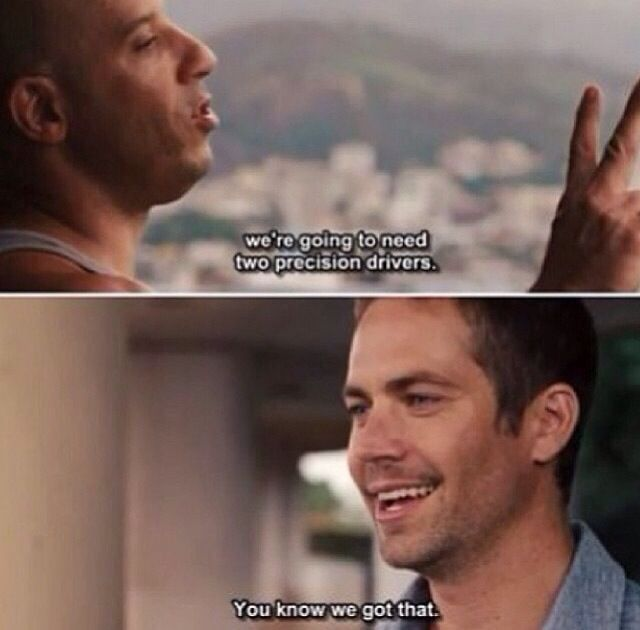 Fast & Furious 5 Vin <3 and Paul <3 makes plans