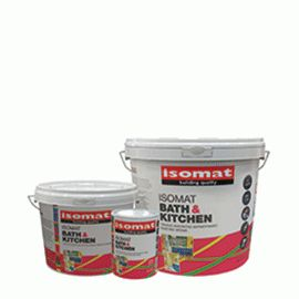 ISOMAT BATH & KITCHEN is the high quality antimold emulsion paint for indoor use. It prevents mold and bacteria and is ideal for areas with high concentration of moisture and vapors, such as kitchens, bathrooms, basements, ceilings, etc. It has strong adhesion to various substrates such as plaster, concrete, bricks, plaster wood etc. It contains no ammonia . It gives a uniform matt surface.