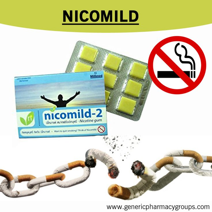 Nicomild chewing gum is used to help people stop smoking cigarettes. It acts as a substitute oral activity and provides a source of nicotine that reduces the withdrawal symptoms experienced when smoking is stopped. Buy Nicomild chewing gum online at http://www.genericpharmacygroups.com/stop-smoking/nicomild.html and quit your smoking inurement.