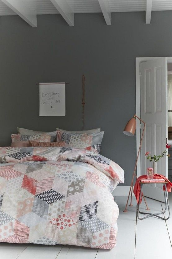 Best 25+ Grey And Coral ideas on Pinterest : Teen bedroom ...
