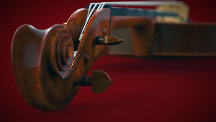 Violin. Modeled in NX by Sondre Kvam, rendered in KeyShot.