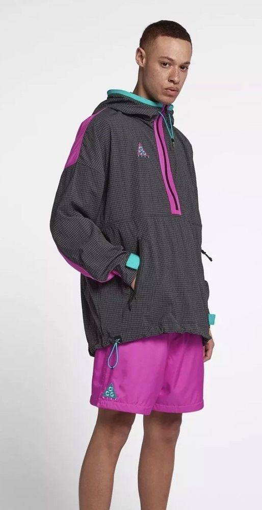33aeb76e15a3 NIKE ACG 2018 HOODED JACKET ANTHRACITE MAGENTA TEAL 931907 060 MEN S LARGE  NWT  Nike  Jacket