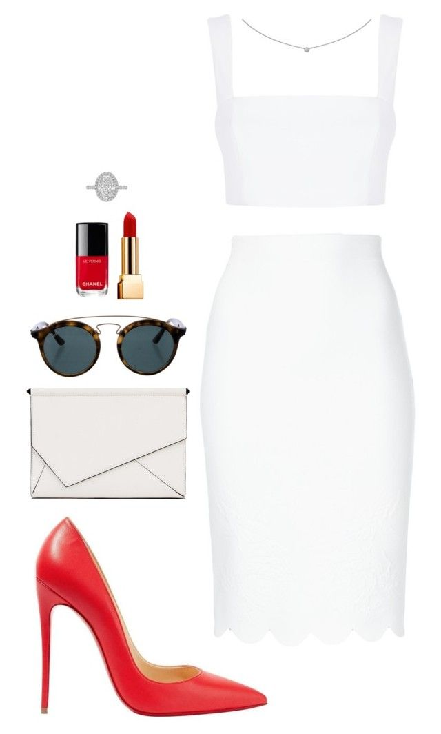 Street style by dalma-m on Polyvore featuring polyvore fashion style Nicholas Alexander McQueen Christian Louboutin Kendall + Kylie Cartier Ray-Ban Yves Saint Laurent Chanel clothing