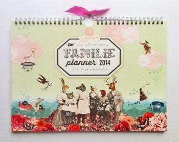 Family planner 2014 by Dutch design studio 'Pimpelmees paper goods'.