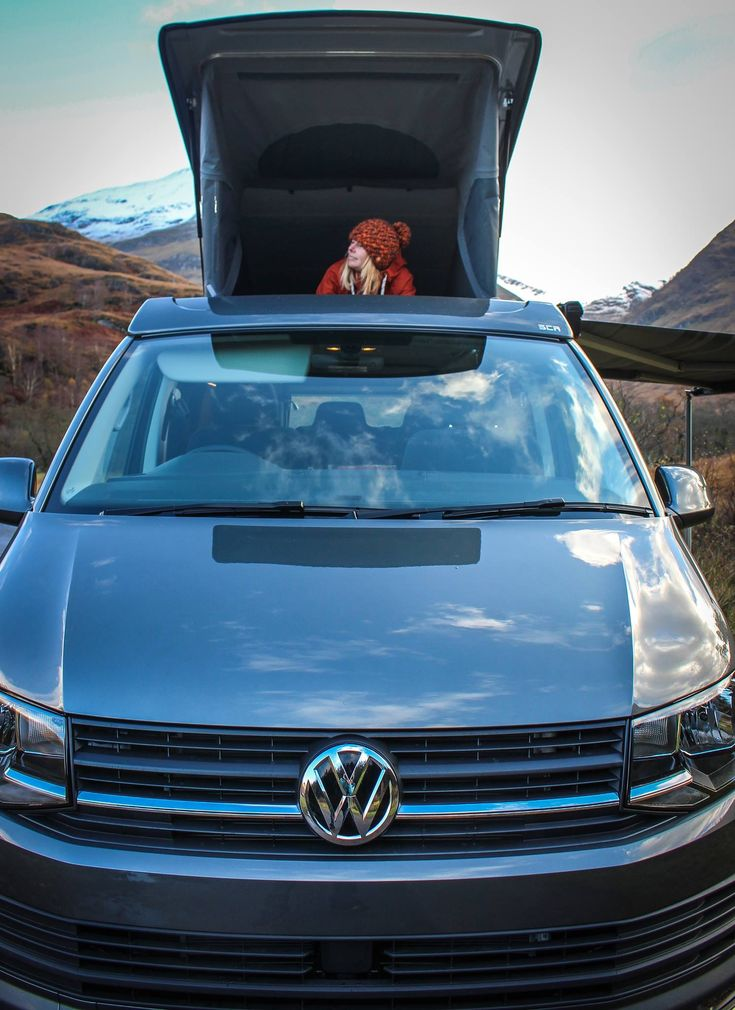 VW T6 Highline Campervan in Indium Grey with the SCA 194 Panoramic Elevating Roof finished and already away on adventures.