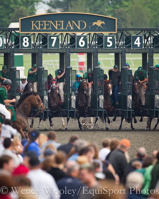 Dress up and go to Keeneland, not far from Cincinnati in Lexington, Ky.