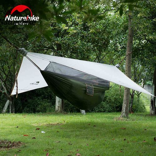 Naturehike Ultralight Hanging Tent Outdoor Hammock with Bed Net Sleeping Tent Camping Bed 1 Person Only 1.5kg NH Tourist Tents