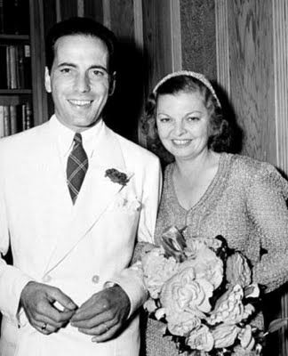 Humphrey Bogart and 3rd wife Mayo Methot wedding (married 1938-1945) ~ AND THEN THERE WAS HIS 4TH WIFE, LAUREN BACALL ~