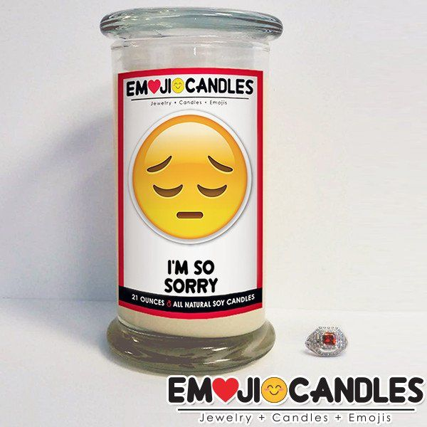 I'm So Sorry - Emoji Candles. Add a little fun & personal touch to your gift.. with an Emoji Candle! Yes, the Emojis everyone loves now has a candle that will make everyone smile!