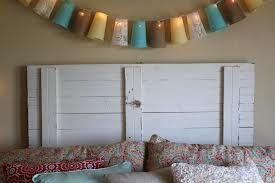 Decor Idea: Painted 2x4 Headboard (from old deck wood).
