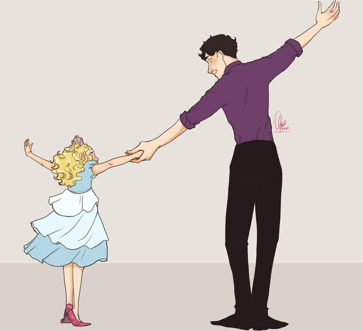 Okay, I felt the need to have a dance night with Rosie and Uncle Sherlock. :)