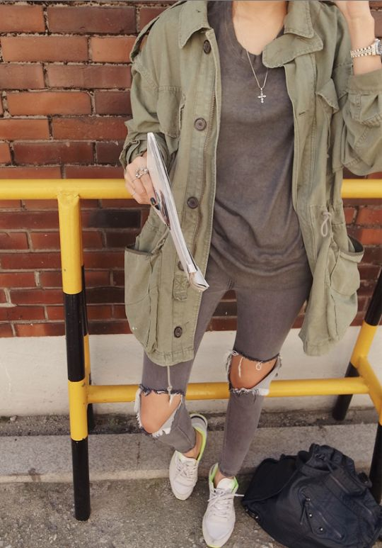 grey + army green
