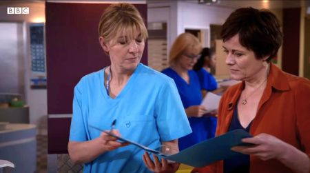 Holby City (18/32) Bernie Wolfe (Jemma Redgrave) and Serena Campbell (Catherine Russell)