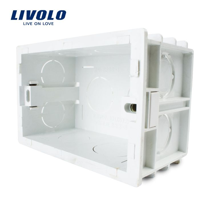 Free Choose, White Plastic Materials, 101mm*67mm US Standard Internal Mount Box for 118mm*72mm Standard Wall Light Switch  http://ali.pub/pncw9