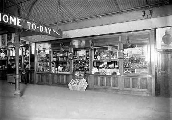Shops inside the old Princes Bridge Station, Flinders St, Melbourne