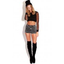Basic Black Acid Wash Denim Look Hotpant Shorts  These basic shorts are a staple every girl needs  ♥ Basics ♥70% Cotton, 28% Polyester, 2% Elastane
