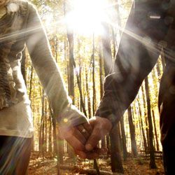 Fall in love with fall with this super sweet engagement