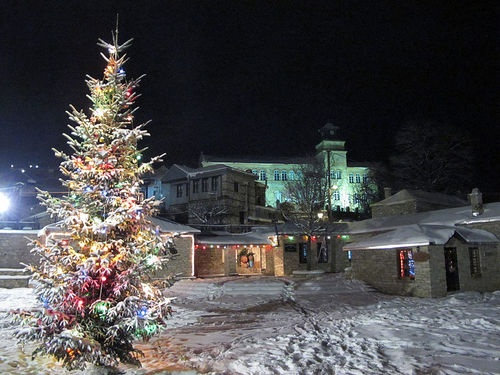 Christmas tree at Nymfeo, Florina, Greece
