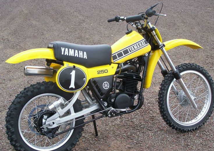Had an old mid-70's Yamaha YZ250 beater that began life looking like this. By the time I was done with it...not so much