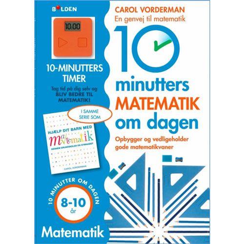 Synes ditt barn at det er litt tungt og kjedelig med matematikk i skolen. Eller elsker ditt barn morsomme matematiske utfordringer?   Idéen med denne boken er i hvert fall å gjøre matematikk til en morsom og viktig del av barnets hverdag!   Den medfølgte timeren settes på 10 minutt og oppgavene løses i den rekkefølgen som passer til barnet.
