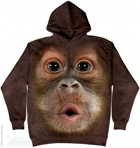 Big Face Baby Orangutan bluza The Mountain- sklep internetowy geekcode.pl