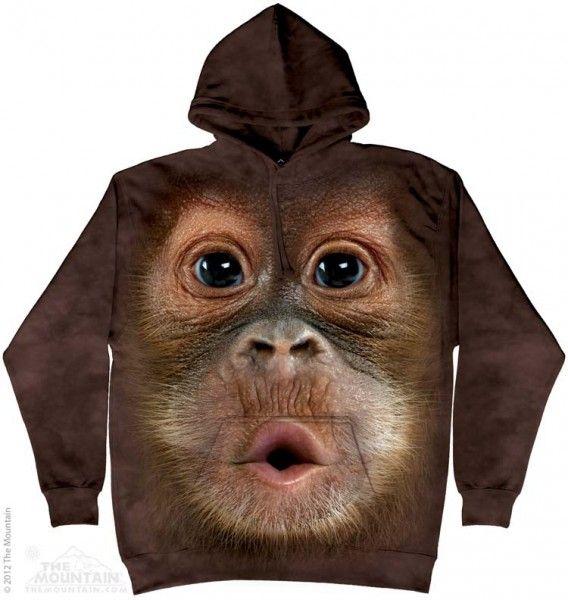 Big Face Baby Orangutan bluza The Mountain- sklep internetowy geekcode.pl