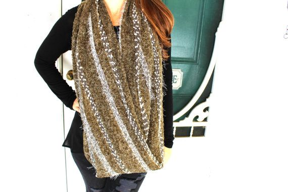 Check out this item in my Etsy shop https://www.etsy.com/ca/listing/249403153/army-green-knit-scarf-infinity-scarf