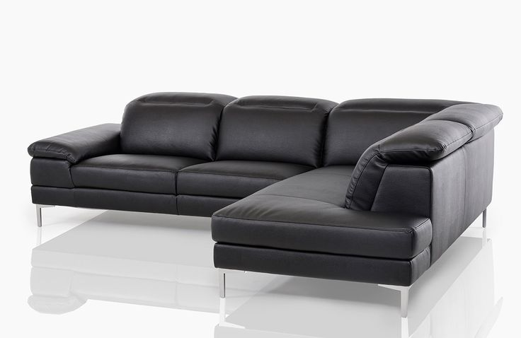 The modern black leather sectional sofa comes with a strong and sturdy construction. This piece features an excellent craftsmanship, and is uniquely designed to compliment your living space. This modern black leather sectional sofa is bound to go fast, so buy while supplies last.