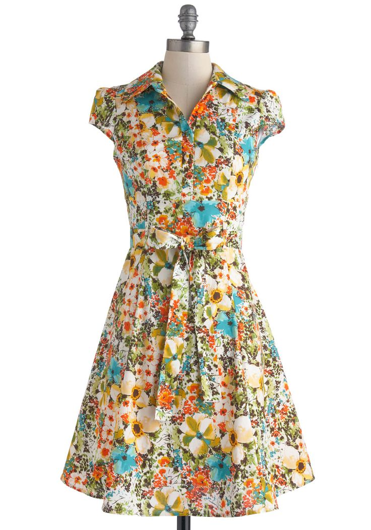 Hell Bunny Nostalgic Awe A-Line Skirt in Tropical. Floral ShirtsFloral  Shirt DressBelted ...