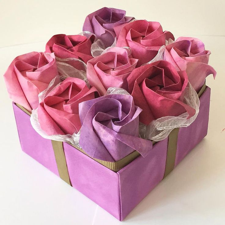 Origami Rose Chocolate Box Origami Tutorial Lets Make It