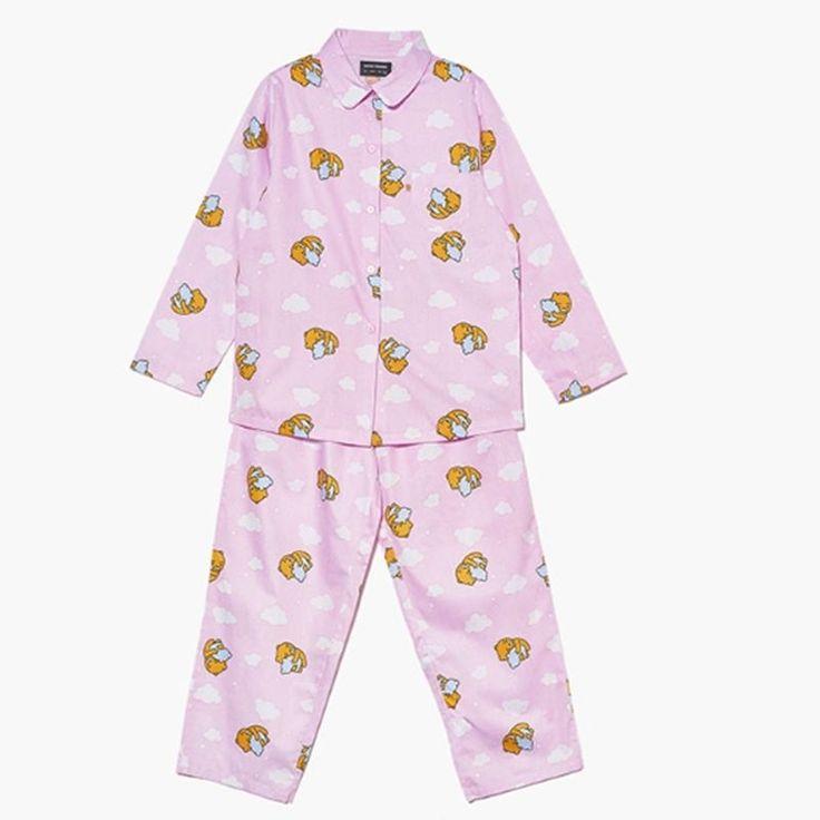 Kakao Friends Cozy Cloud Pajama Women Ryan Home Wear Sleepwear Free Size  #KakaoFriends #PajamaSets #Everyday