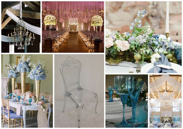 Beautiful duck egg blue and gold wedding.